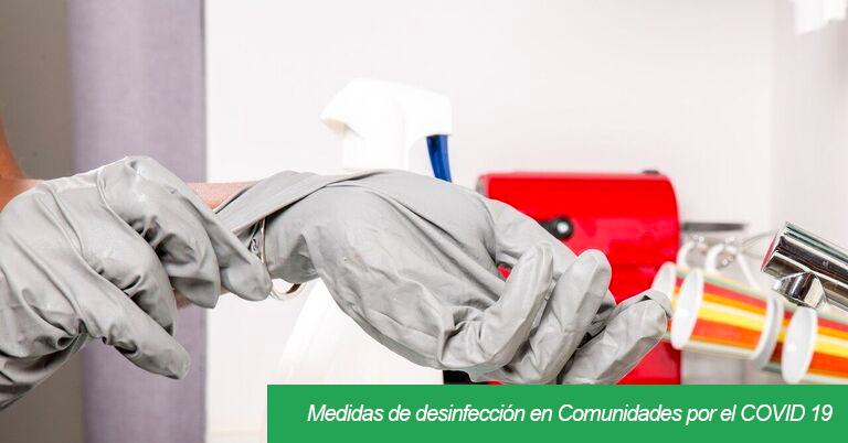 desinfección comunidades